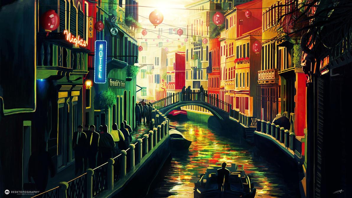 Venice-Desktopography 2013 by Najeeb-Alnajjar