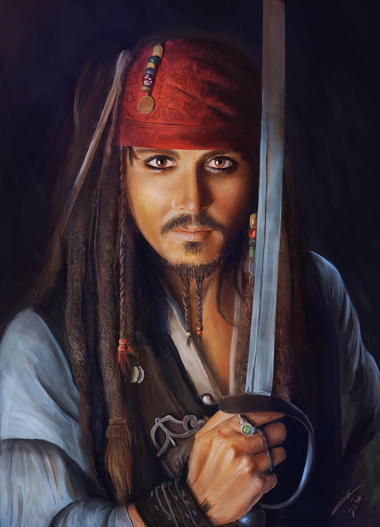 JOHNNY DEPP - JACK SPARROW by Najeeb-Alnajjar