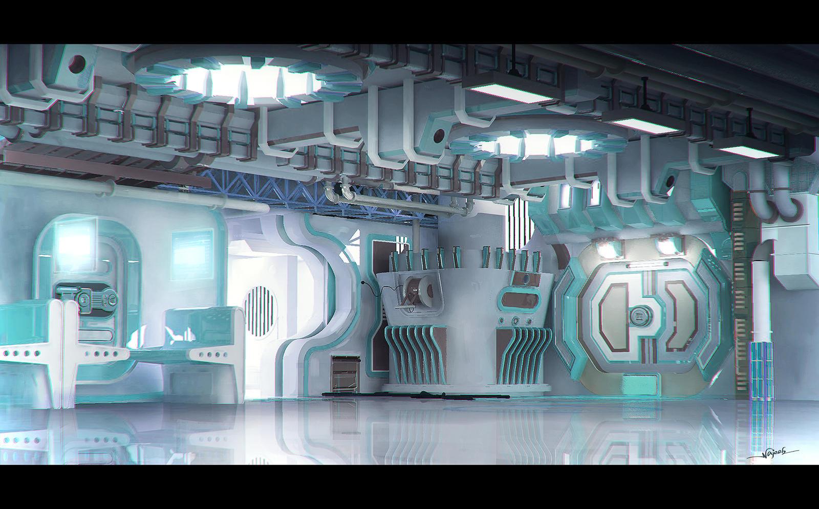 Control room by najeeb alnajjar on deviantart for Futuristic control room