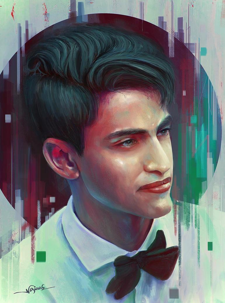 Portrait by Najeeb-Alnajjar