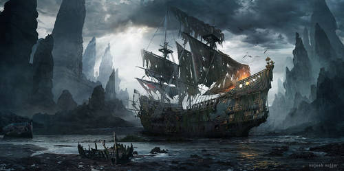 The lost sailor by Najeeb-Alnajjar