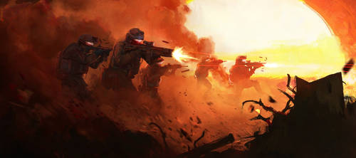 Red Combat by Najeeb-Alnajjar