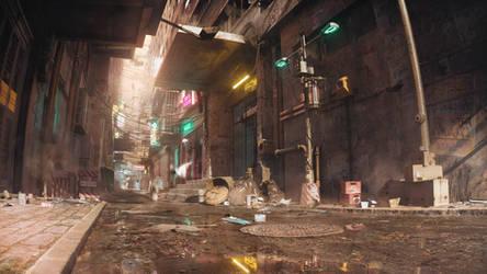 Cyber Alleyway Daylight