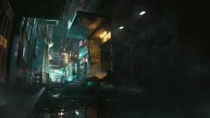 Cyber Alleyway Night
