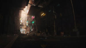 Cyber Alleyway Sunset