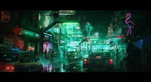 A little Cyberpunk street