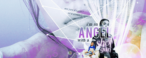 Angel with a Shotgun Signature by thestarwhales