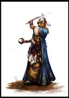 Kyra the priestess by Thepastart