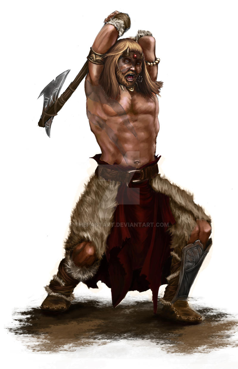 Barbarian by Thepastart