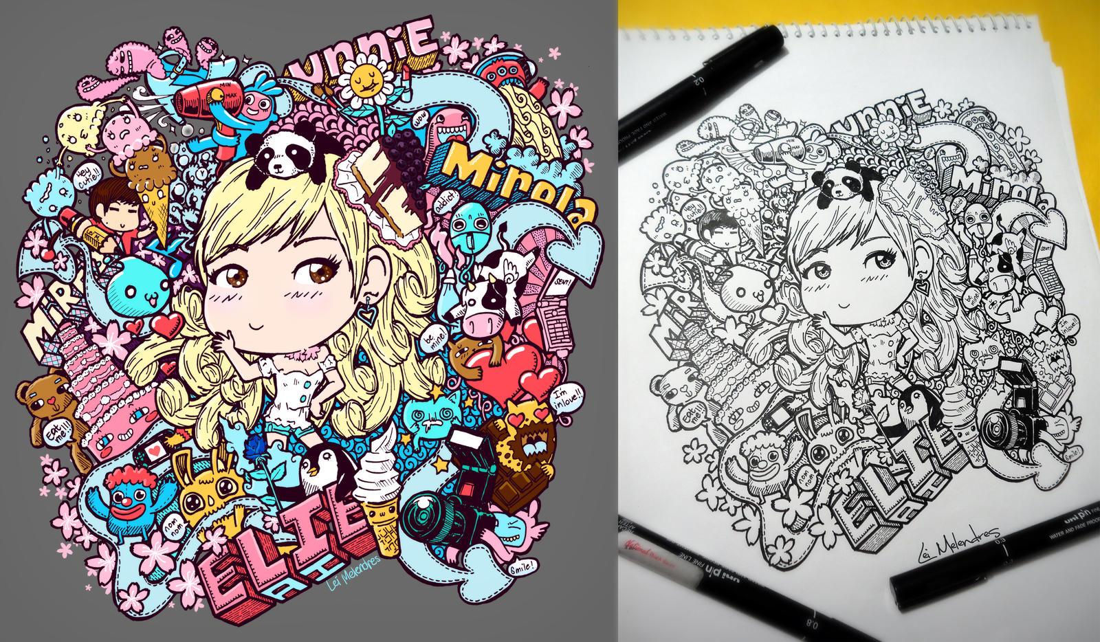 Doodle Blondie by LeiMelendres
