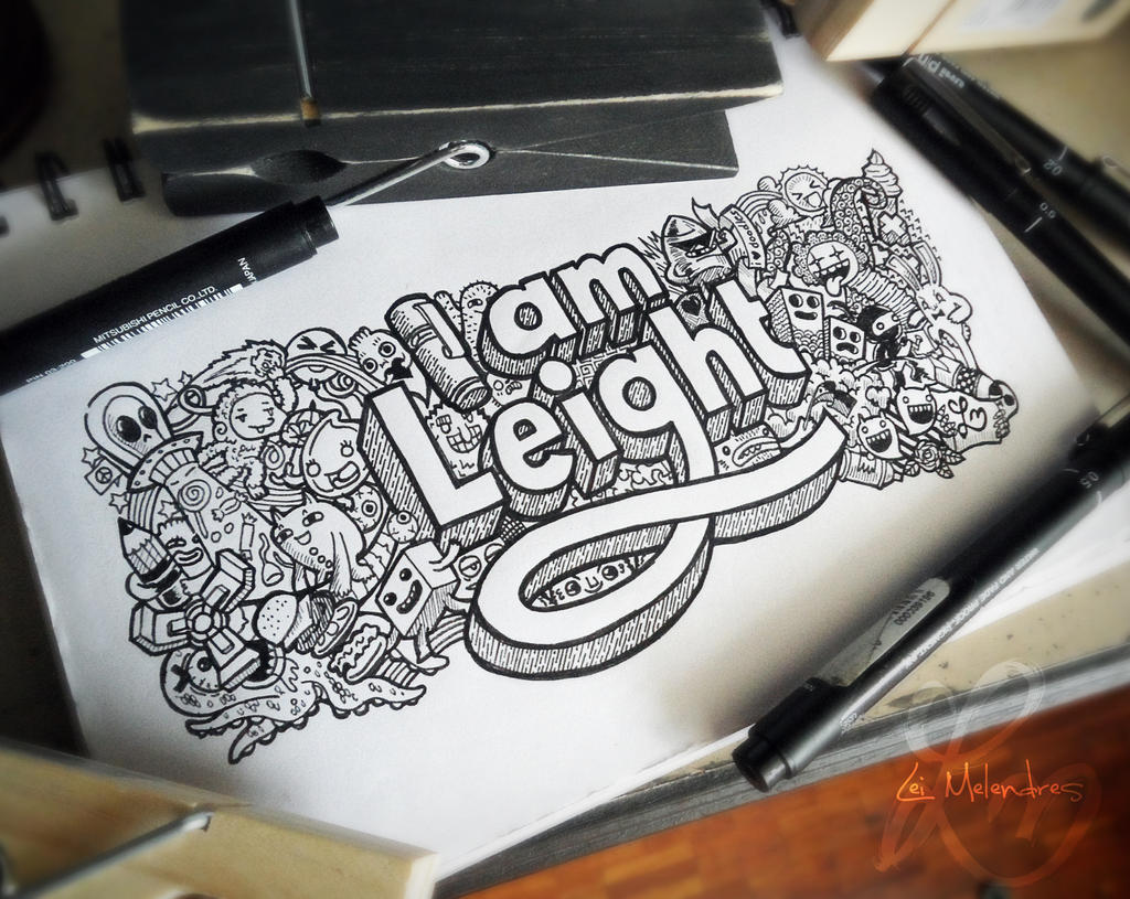 Doodle: I AM LEIGHT by lei-melendres