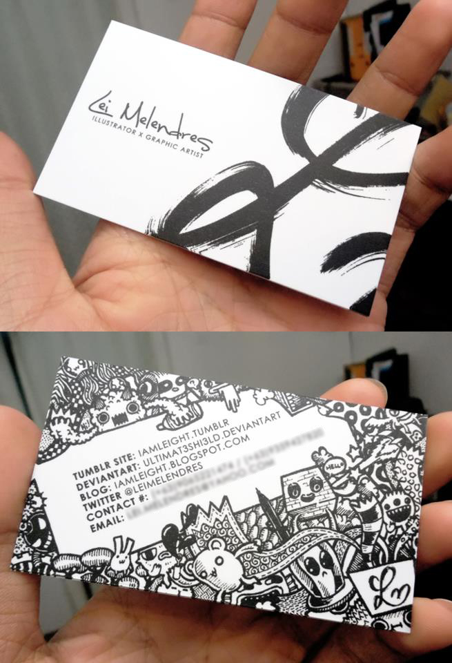 Doodle Business Card by LeiMelendres on DeviantArt