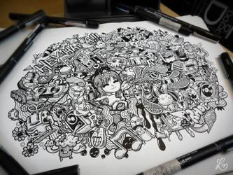 Doodle: Guitar Girl by LeiMelendres