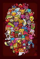 Hidden Doodles' 50 Monsters by LeiMelendres