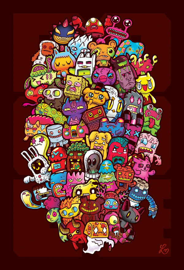 Hidden Doodles' 50 Monsters by lei-melendres