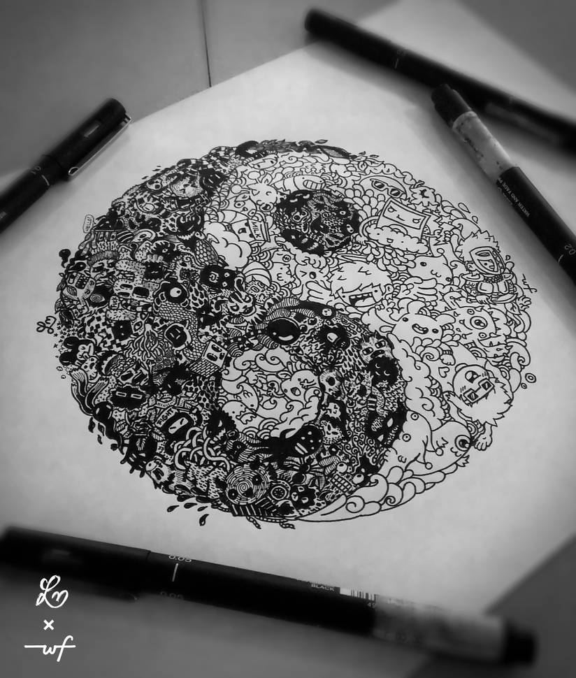 YinYang Doodle by LeiMelendres