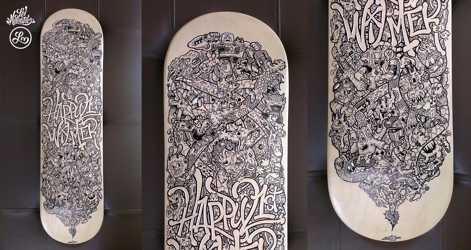 Skateboard Doodle Art by lei-melendres