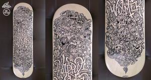 Skateboard Doodle Art by LeiMelendres