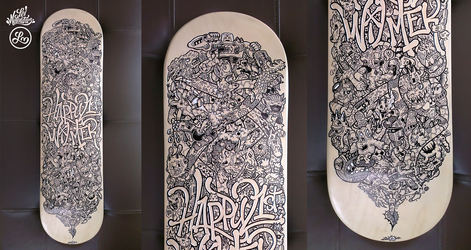 Skateboard Doodle Art