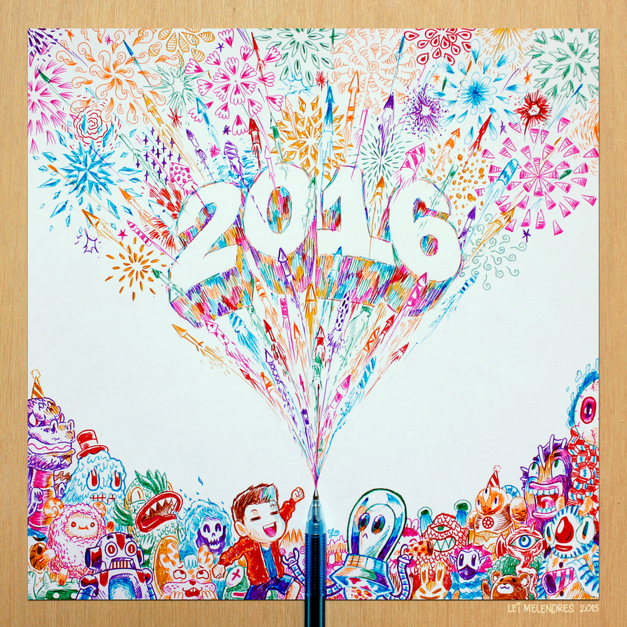 Doodle Happy 2016! by lei-melendres