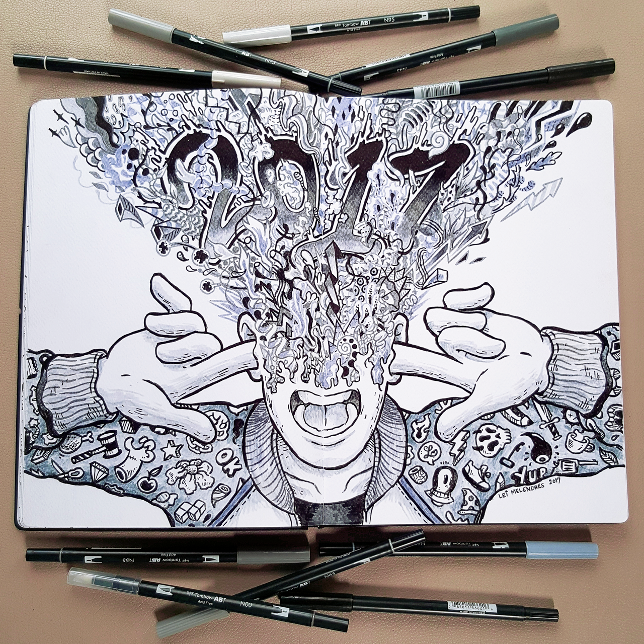 2017 doodle art by leimelendres on deviantart for Pictures to draw on canvas