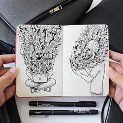 Doodle Art : Social Media Gets Toxic Sometimes
