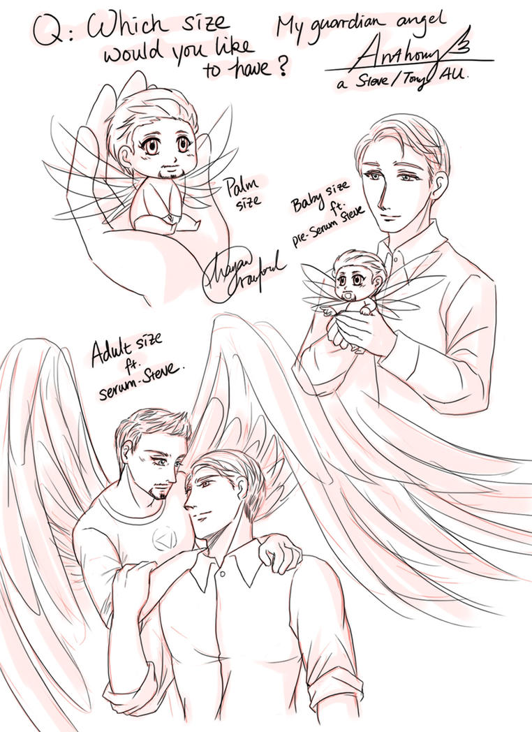 marvel: angel Anthony AU 6 by hayatecrawford