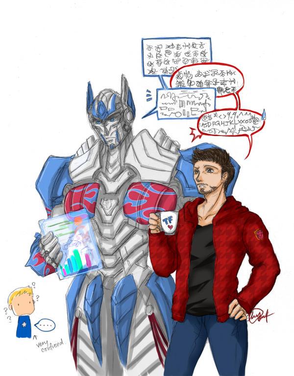Tony and Optimus 1 by hayatecrawford