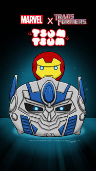 iron man and optimus tsum tsum