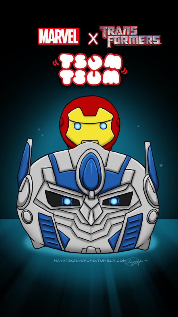 iron man and optimus tsum tsum by hayatecrawford