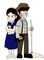 Allison Pendle and Wally Franks by Gamerboy123456
