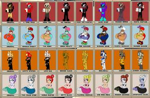Bendy/Cuphead Fan Favorites (Color Variants) by Gamerboy123456