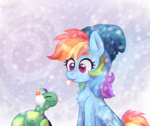 Catching Snowflakes by Pink-Pone