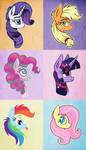 Different Ponies, Different Styles by Pink-Pone