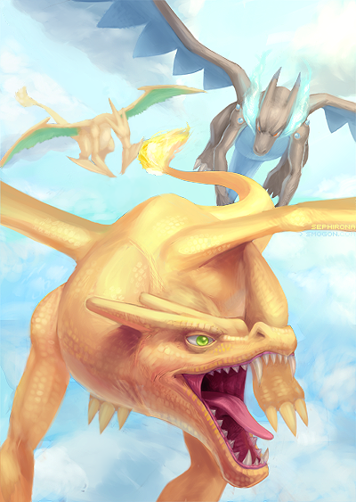 Charizard Throughout History by Sephirona