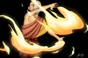 Aang - firebender by Tseng-Akera