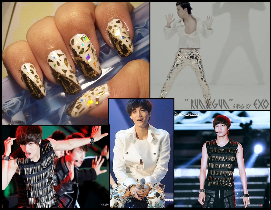 EXO-K, Kai inspired nails by NamiPanda137 on DeviantArt