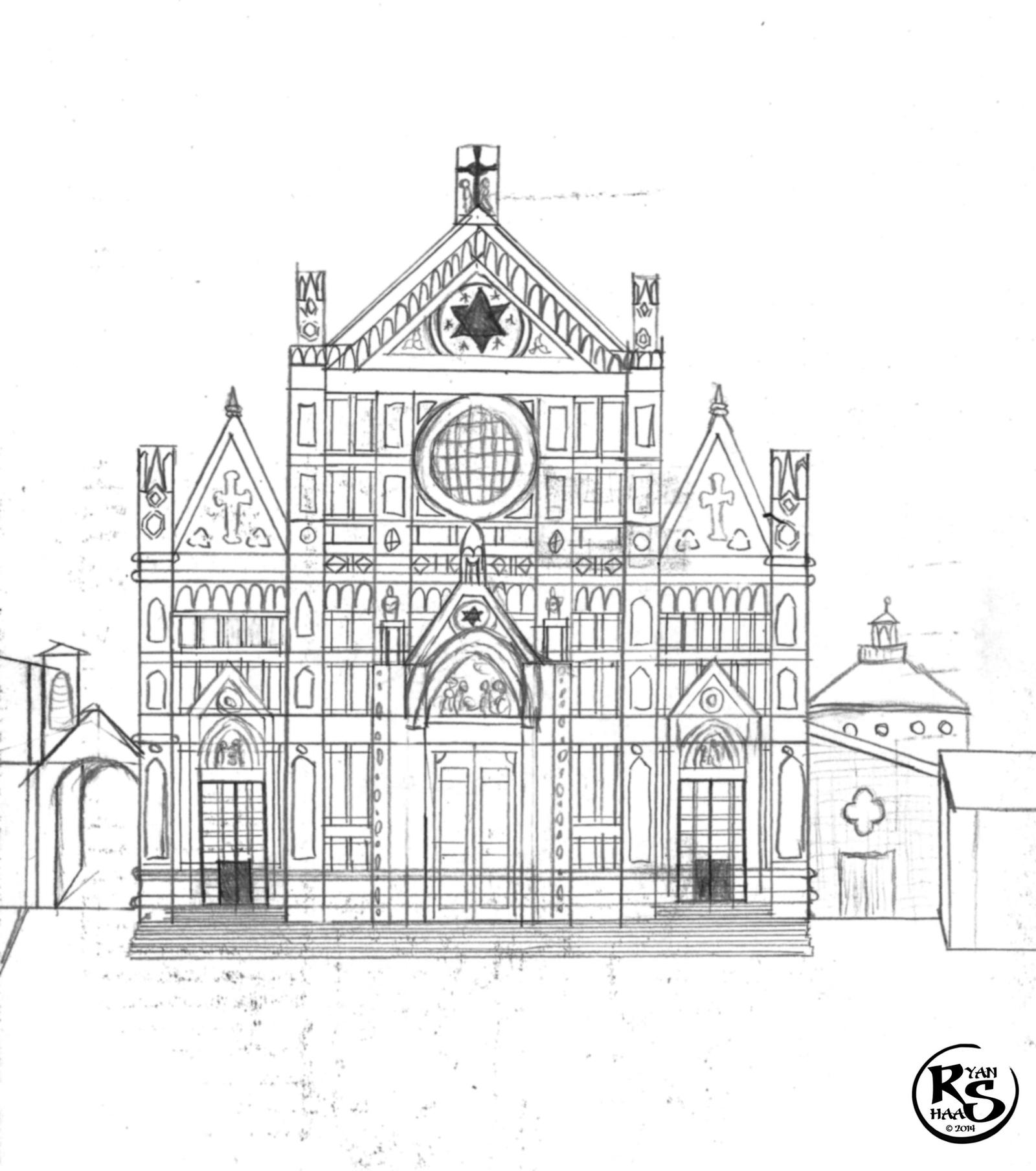 basilica of santa croce florence by ryanhaas on deviantart