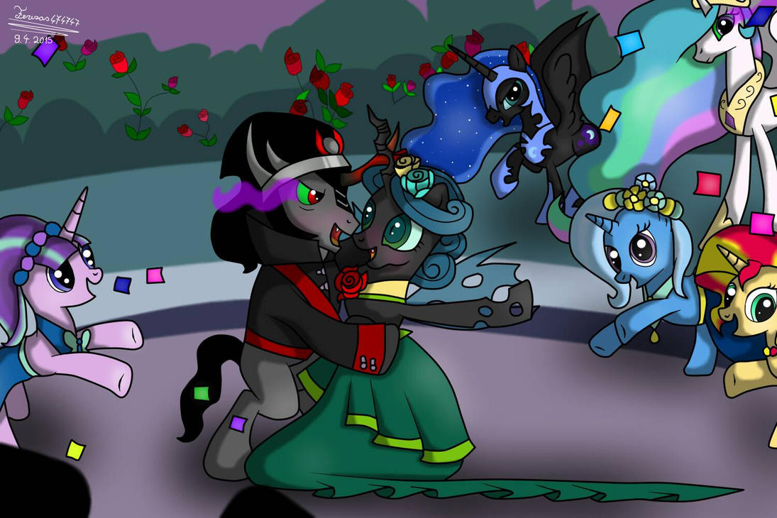 Queen Chrysalis And King Sombra By Terezas474747 On Deviantart