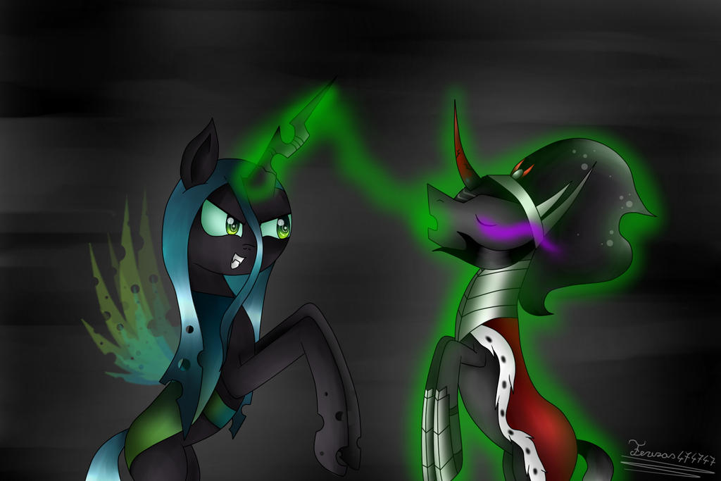 Queen Chrysalis And King Sombra Queen Chrysalis and Ki...
