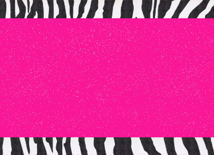 Hot Pink Zebra Fondant Cake