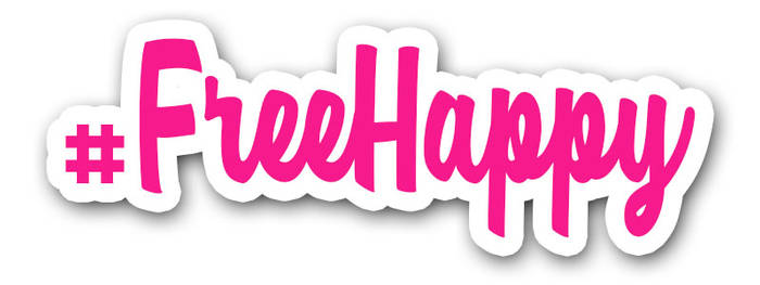 #FreeHappy Banner