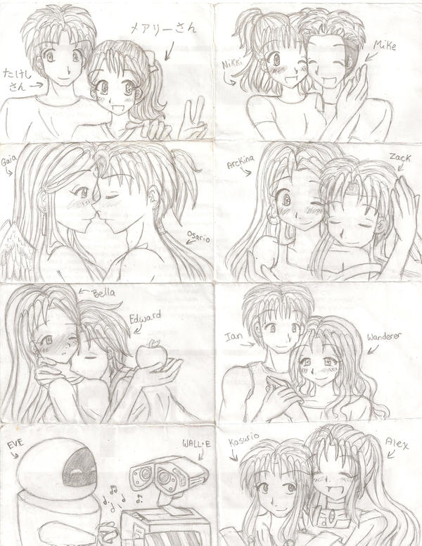 Anime couples in love