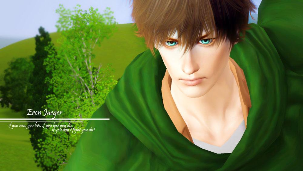 W Download Shingeki No Sims Eren Jaeger By Chrissyanaa On Deviantart