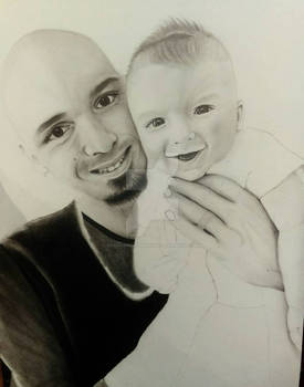 wip Photo Realism Portrait of My Husband and Son