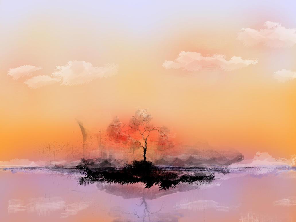 inkblot sunset by netghost