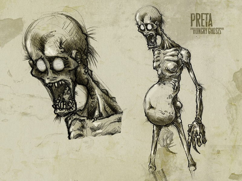 31 Days Of Monsters Day1: PRETA