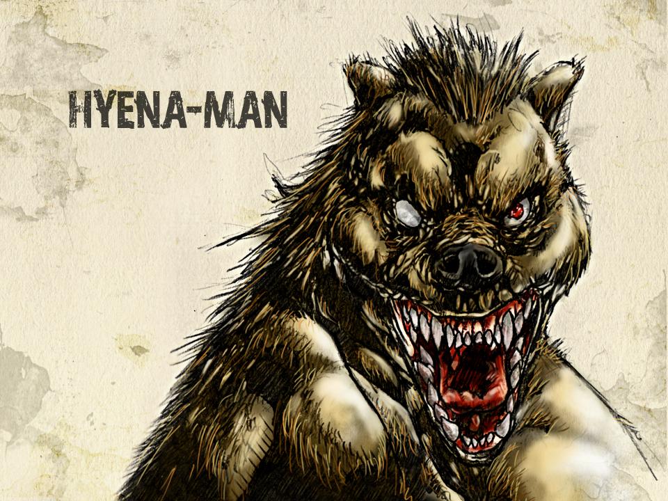 #31DaysofMonsters DAY 13: Hyena-Man by franciscomoxi