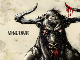 #31DaysofMonsters DAY 16: Minotaur by franciscomoxi