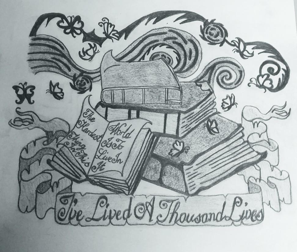 starry night book tattoo design by spackyjacqui on deviantart. Black Bedroom Furniture Sets. Home Design Ideas